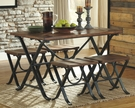 Signature Design Freimore Dining Room 5-Pc Table Set - Ashley Furniture D311-225