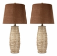 Signature Design Haldis Ceramic Table Lamp (Set of 2) - Ashley Furniture L136534