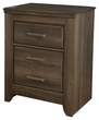 Signature Design Juararo Two Drawer Night Stand - Ashley Furniture B251-92
