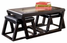 Signature Design Kelton Cocktail Table w/ 2 Stools - Ashley Furniture T592-1