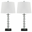 Signature Design Leesa Crystal Table Lamp (Set of 2) - Ashley Furniture L428094