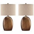 Signature Design Lewelyn Ceramic Table Lamp (Set of 2) - Ashley Furniture L100614