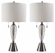 Signature Design Maizah Glass Table Lamp (Set of 2) - Ashley Furniture L430574