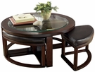 Signature Design Marion Cocktail Table w/ 4 Stools - Ashley Furniture T477-8