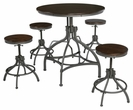 Signature Design Odium Counter 5-Pc Table Set - Ashley Furniture D284-223