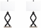 Signature Design Rosetta Poly Table Lamp (Set of 2) - Ashley Furniture L422294