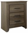 Signature Design Zelen Two Drawer Night Stand - Ashley Furniture B248-92