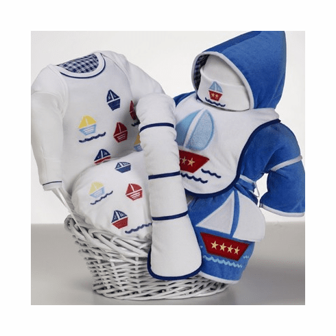 Baby Sail-A-Way Gift Basket for Boy