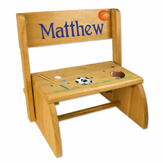 Personalized Wood Flip Step Stool