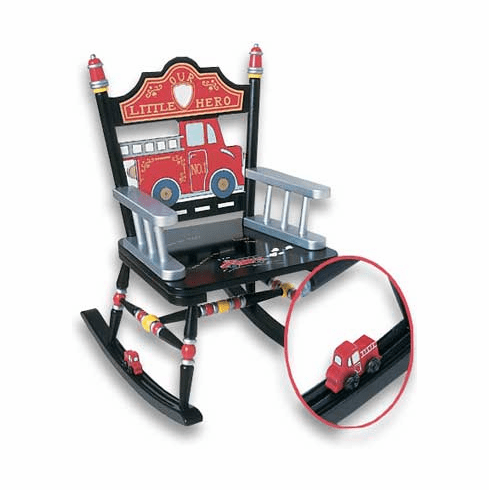 Fire Engine Child Rocking Chair- Free Shipping