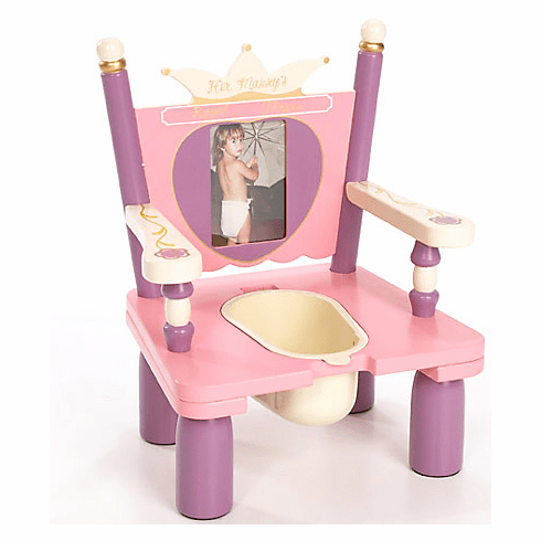 Her Majesty's Princess Throne Child Wooden Potty Training Chair