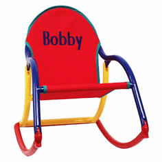 Hoohobbers Personalized Folding Rocking Chair - Primary (Canvas)
