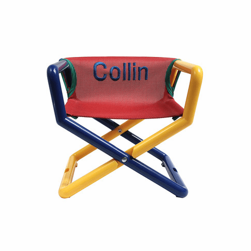 Hoohobbers Personalized Jr Director's Chair/Booster - Primary (Canvas)