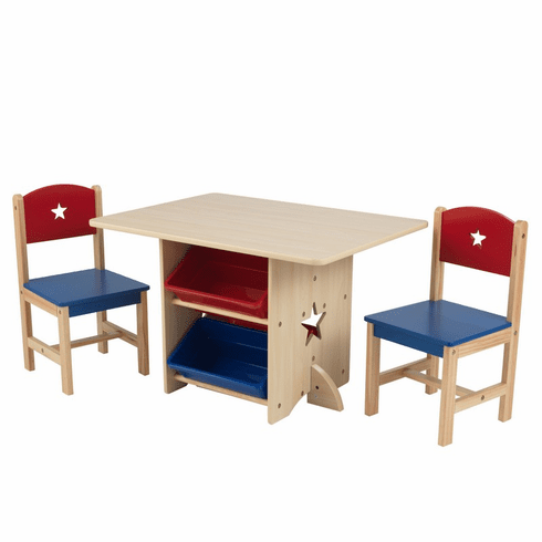 KidKraft Child Star Table Set with Primary Bins