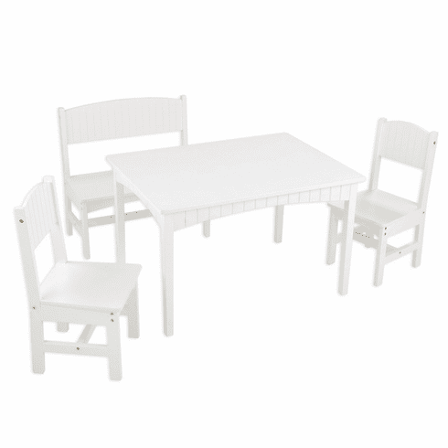 KidKraft Nantucket Child Table, Bench and 2 Chair Furniture Set