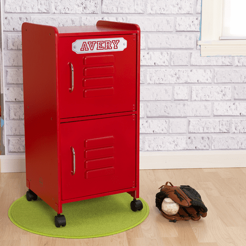 Kidkraft Personalized Kids Storage Locker - Red