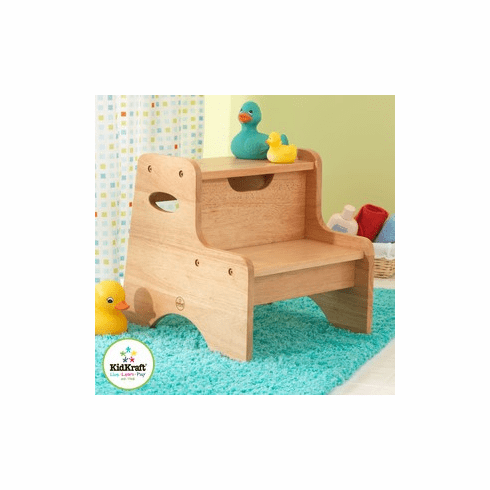KidKraft Two-step Child  Stool - Natural