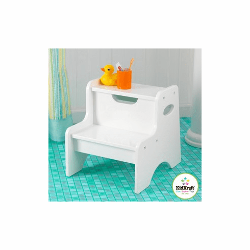 KidKraft Two-step Child Stool - White