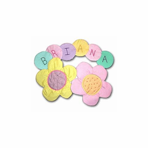 Large Flowers Personalized Wall Hanging
