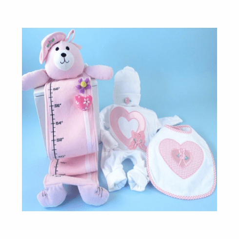 Personalized Baby Girl Heart Gift Set