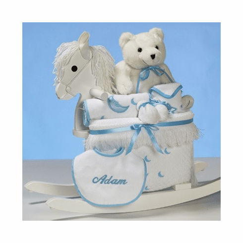 Personalized Baby Rocking Horse for Boy