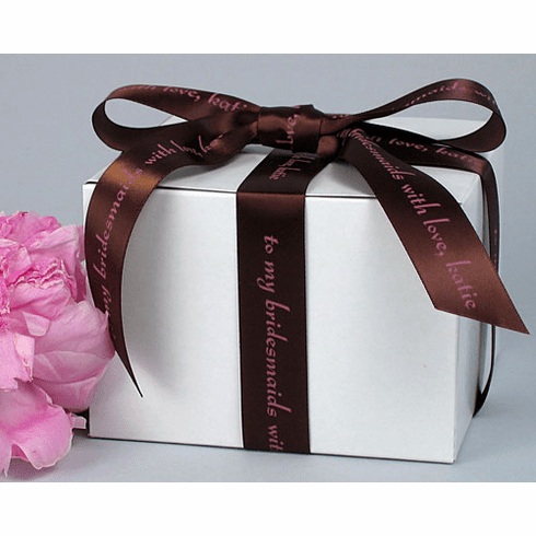 "Personalized Gift Ribbon<br>Satin 7/8"" Wide"