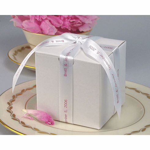"""Personalized Gift Ribbon<br>Satin with Grosgrain Edge - 5/8"""" Wide"""