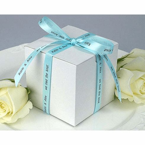 """Personalized Gift Ribbon<br>Single Face Satin - 3/8"""" Wide"""
