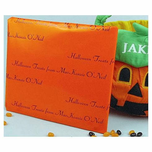 Personalized Gift Wrap<br>Candy Corn Orange Gloss Finish