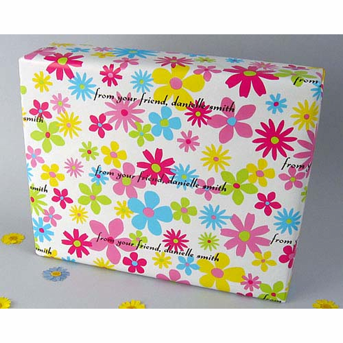 Personalized Gift Wrap<br>Flower Power