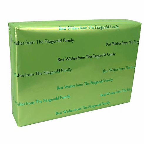Personalized Gift Wrap<br>Mint Julep Satin Finish