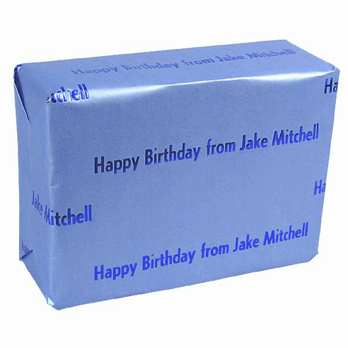 Personalized Gift Wrap<br>Robin Egg Blue