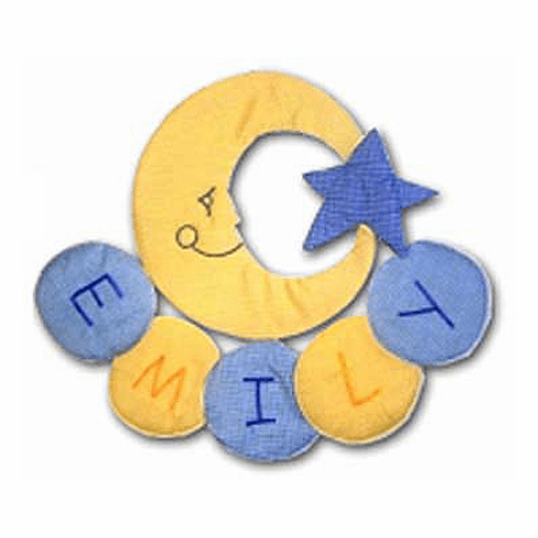 Sweet Dreams Moon Personalized Wall Hanging