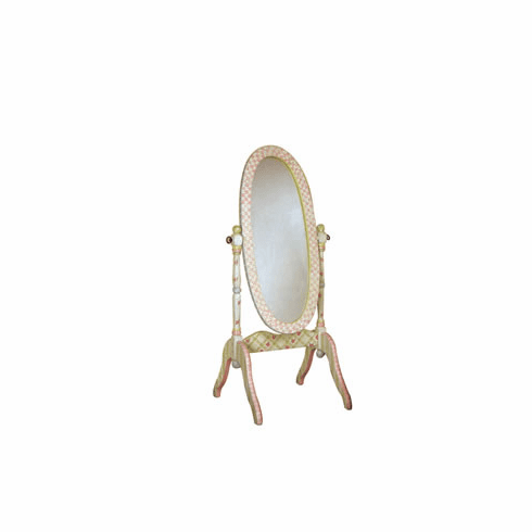Teamson Child Standing Mirror - Crackle Finish