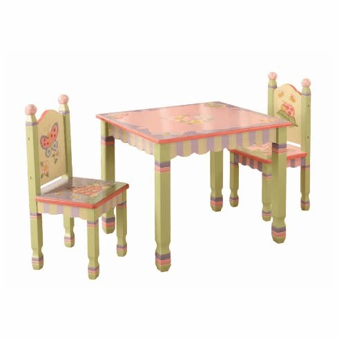 Teamson Child Table and Chair Set - Magic Garden