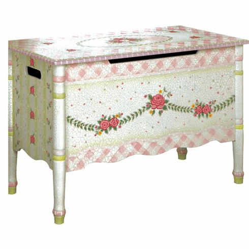 Teamson Child Toy Chest - Pink Crackle