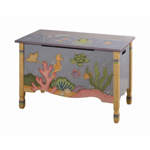 Teamson Child Toy Chest - Under the Sea