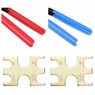 "1/2"" & 3/4"" Pex Crimpers Set Plumbing Crimping Tools Copper Ring Gonogo Gauge"