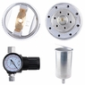 1.4/2.5mm HVLP Spray Gun Auto Car Paint Gravity Feed Gauge Flake Primer Nozzle 1.4mm & Red+Silver