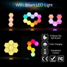 10 Pack WiFi Smart LED Light Kit DIY Night Lamp Voice Control 16 Million Color