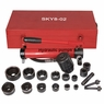 10 Ton 6 Die Hydraulic Knockout Punch Hand Pump Hole Tool Driver Kit w/ Case New Red