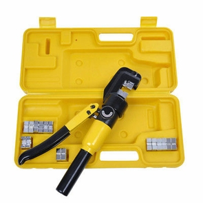 10 Ton Hydraulic Crimper Crimping Tool/w 9 Dies Wire Battery Cable Lug Terminal