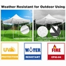 10'x10' EZ Pop Up Canopy Outdoor Sun Shade Wedding Party Tent Gazebo White 550D
