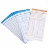 50x Monthly Time Clock Cards Timecard for Employee Attendance Payroll Recorder