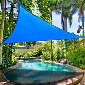 11.5' Triangle Outdoor Sun Sail Shade Shading Blue