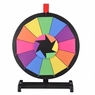 """15"""" Tabletop Color Prize Wheel Spin Fortune Win Game Tradeshow Party Carnival Type 4: Colorful 12 Slots"""