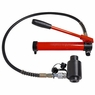 """15 Ton 4"""" Hydraulic Knockout Punch Driver Kit 10 Dies Hole Case 11 14 Gauge Tool"""