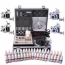 2 4 8 Machine Guns Complete Tattoo Kit 40 54 Ink LCD Power Supply 4 Guns 40Inks LCD & Black