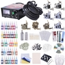 2 4 8 Machine Guns Complete Tattoo Kit 40 54 Ink LCD Power Supply 8 Guns 40Inks & Black