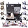 2 4 8 Machine Guns Complete Tattoo Kit 40 54 Ink LCD Power Supply 8 Guns 40Inks LCD & Black